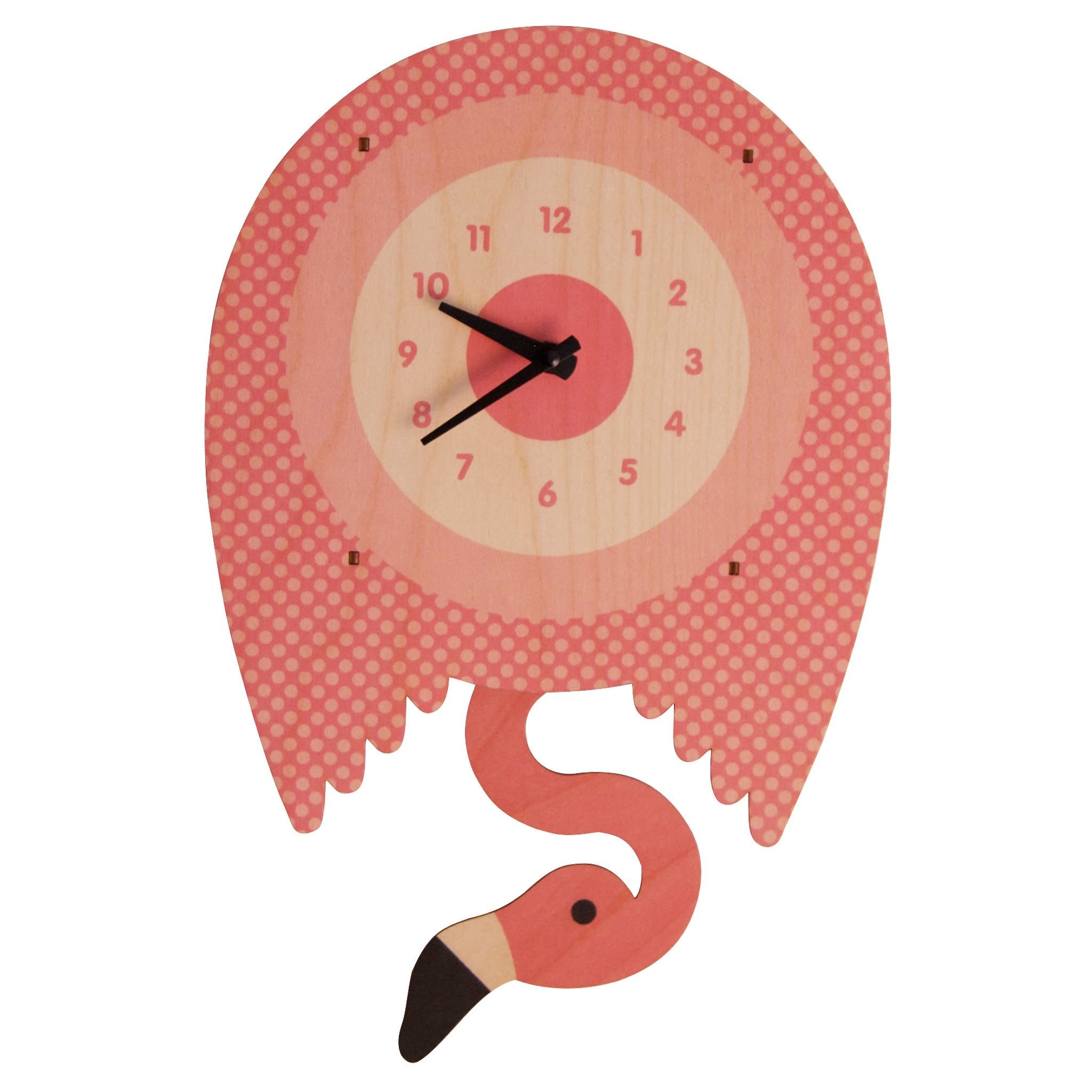 Modern Moose Flamingo Pendulum Clock
