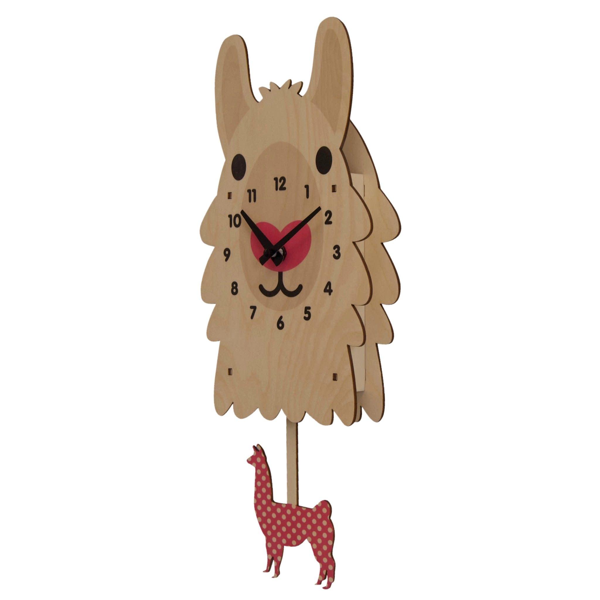 Modern Moose Llama Pendulum Clock