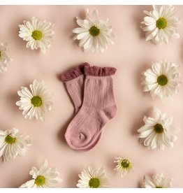 Little Stocking Co. Anklet Sock- Mauve Two Toned