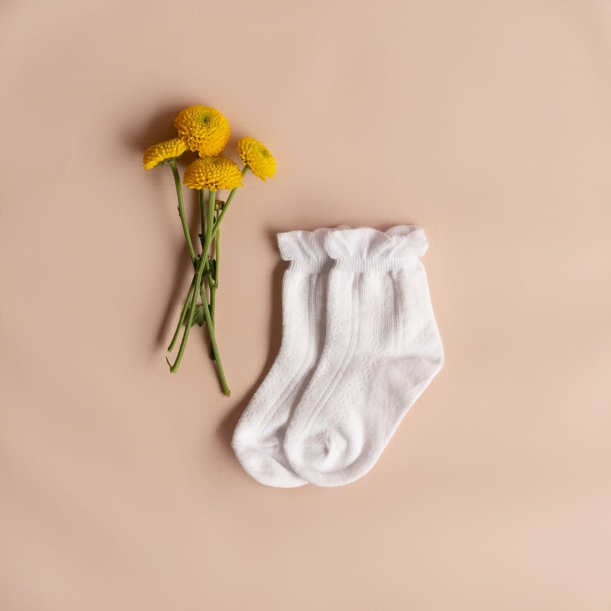 Little Stocking Co. Anklet Sock- White