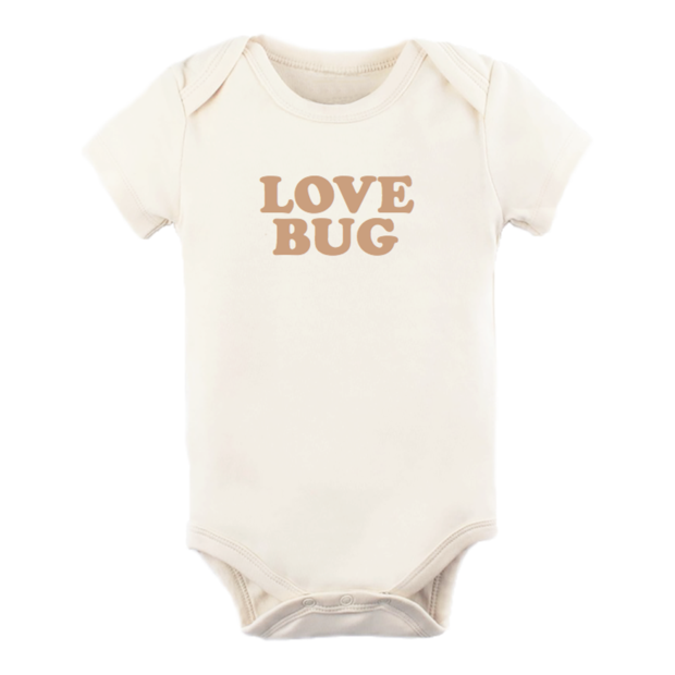 Tenth & Pine Love Bug S/S Bodysuit- Clay