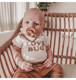 Tenth & Pine Love Bug S/S Bodysuit- Clay