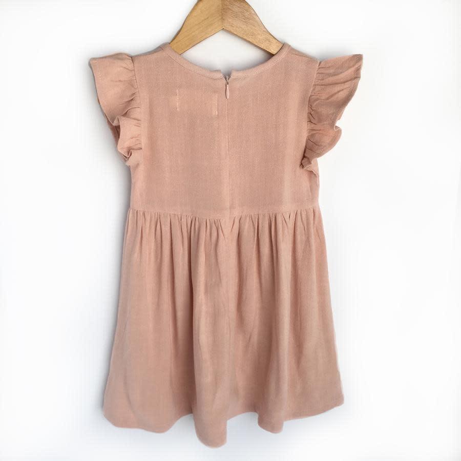 Carken Design Linen Dress- Pink