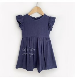 Carken Design Linen Dress-Navy