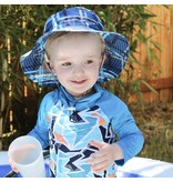 Jan & Jul Bucket Sun Hat- Blue Plaid