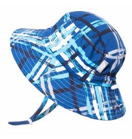 Jan & Jul AquaDry Bucket Sun Hat- Blue Plaid