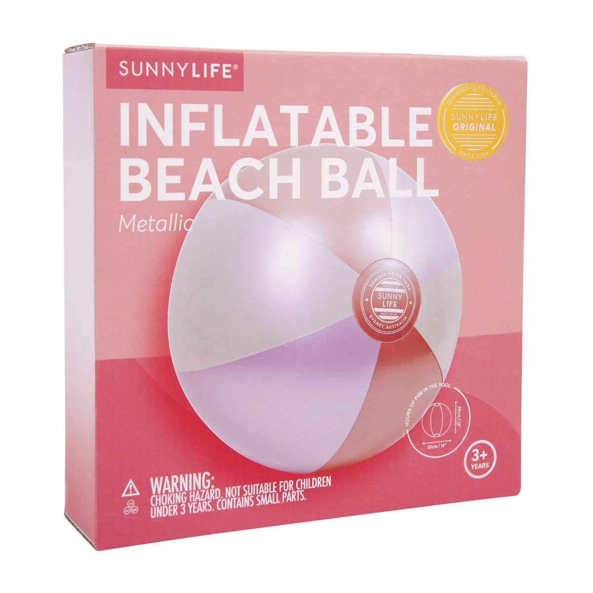 Sunnylife Inflatable Beach Ball Metallic
