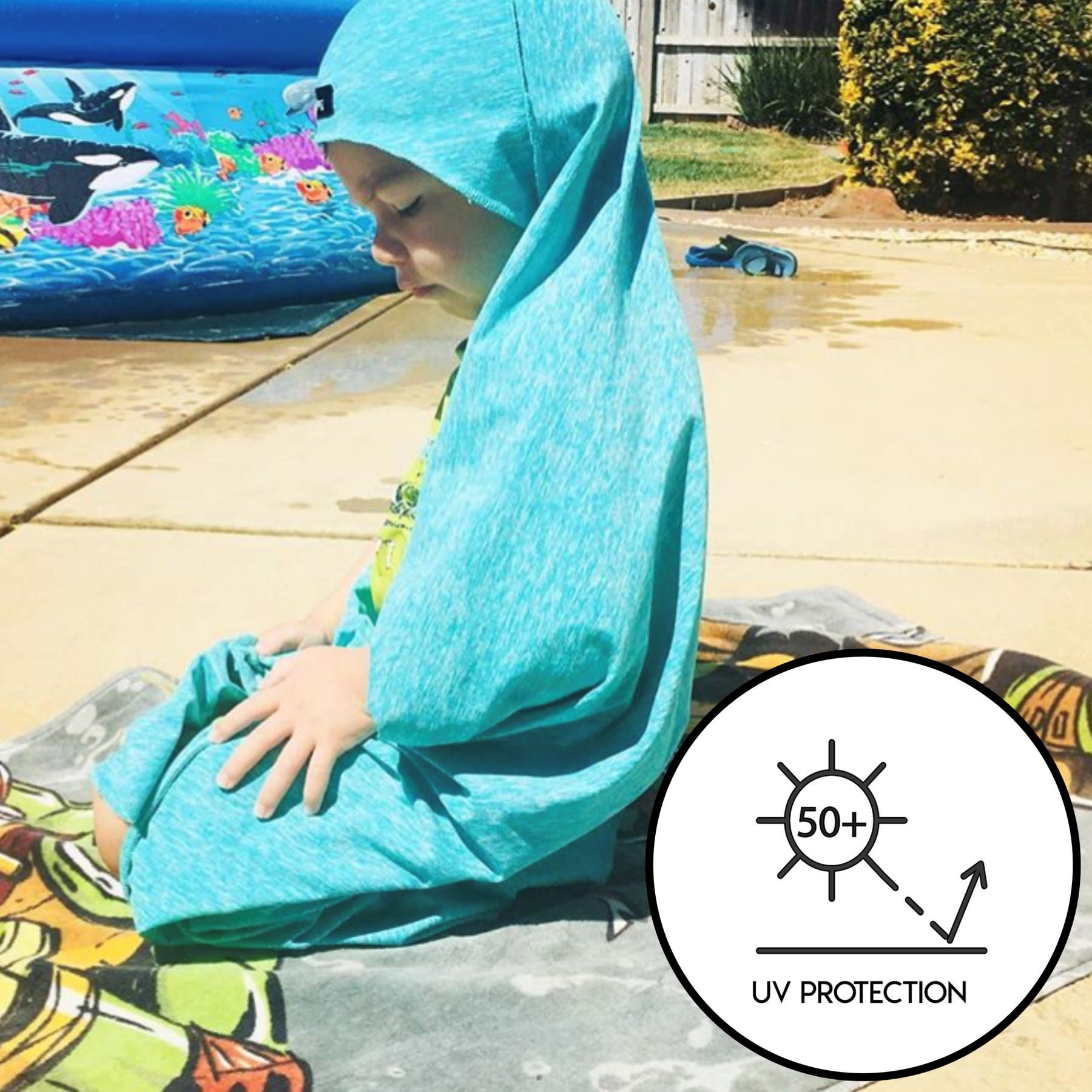 Luv Bug Sunscreen Towel with Hood- NEW