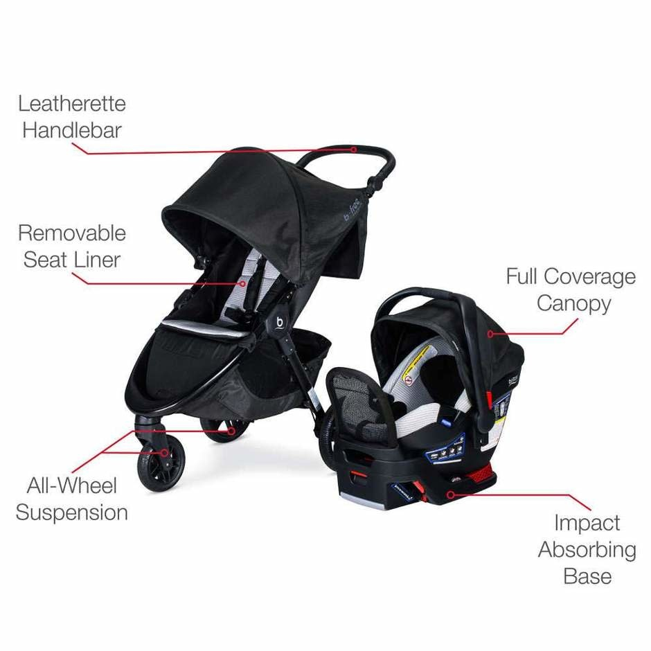 Britax Britax B-Free + Endeavours Clean Comfort Travel System