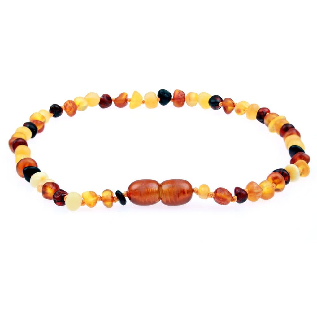 Powell's Owls Amber Teething Necklace- Raw Unpolished