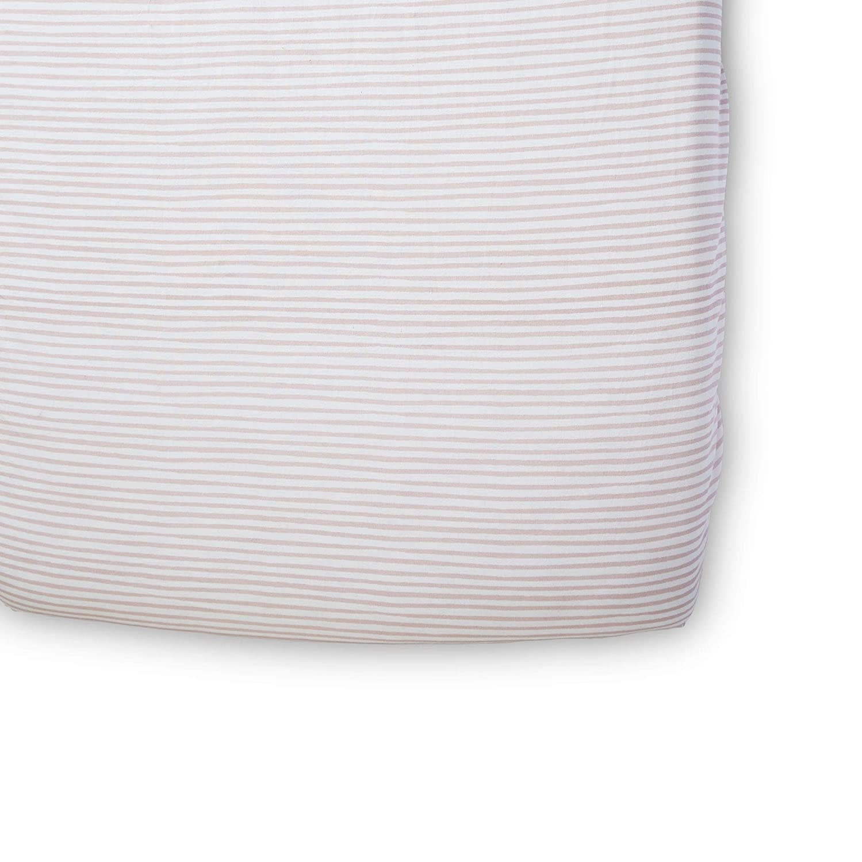 Pehr Designs Striped Crib Sheets- Stripes Away Petal