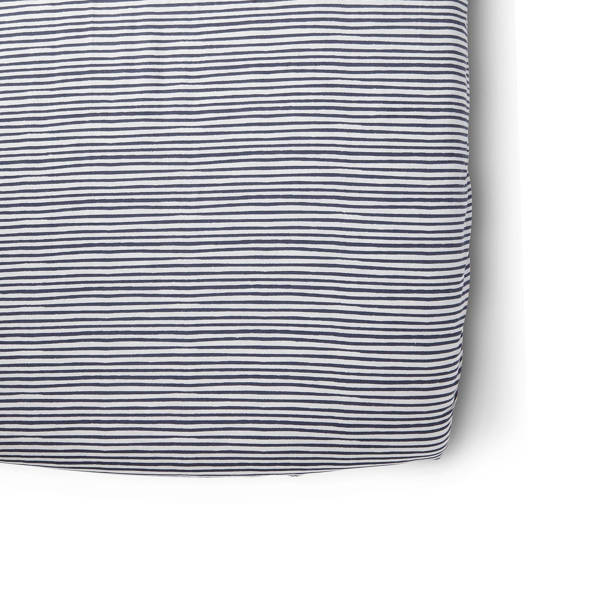 Pehr Designs Striped Crib Sheets- Stripes Away Ink Blue