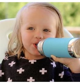 Pura Stainless 9oz Insulated Straw Bottle- Aqua