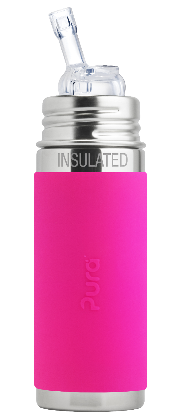 Pura Stainless 9oz Insulated Straw Bottle- Pink