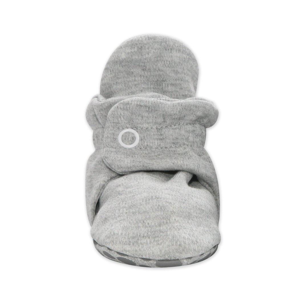 Zutano Cotton Gripper Baby Bootie- Heather Gray