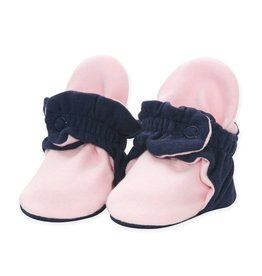 Zutano Organic Cotton Bootie- True Navy/Baby Pink