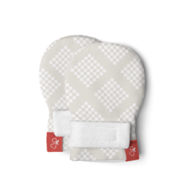 Goumikids Classic Mitts- Diamond Dots, Cream