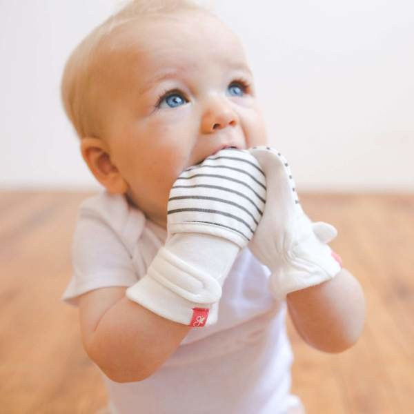 Goumikids Classic Mitts- Stripe Gray