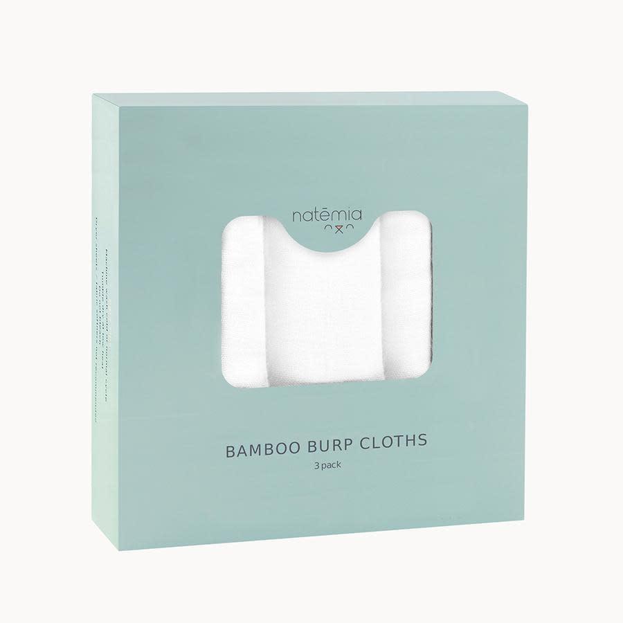 Natemia Muslin Bamboo Burp Cloths- 3 Pack