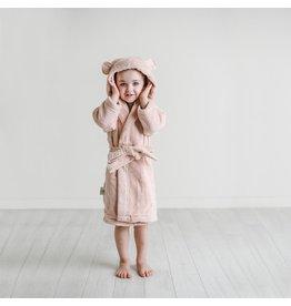 Natemia Organic Cotton Hooded Robe- Blush