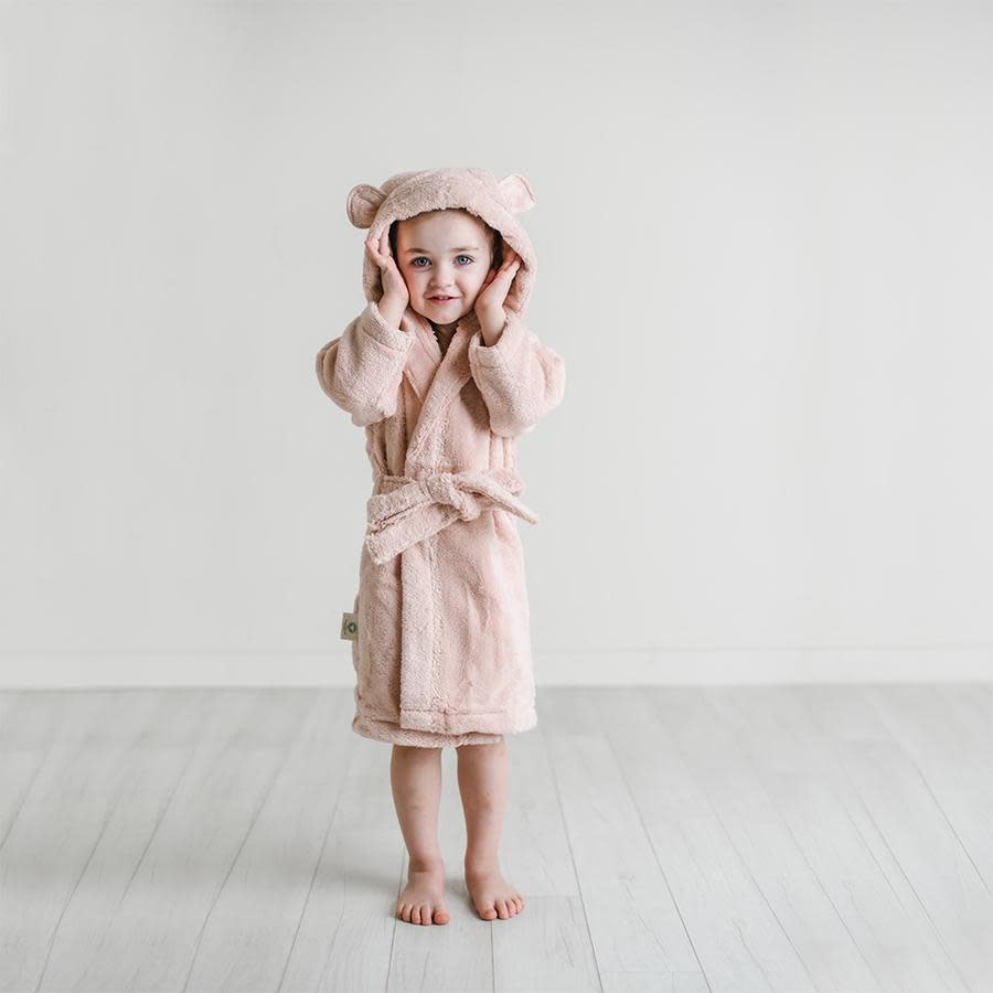 Natemia Organic Cotton Hooded Robe- Blush