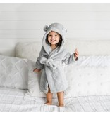 Natemia Organic Cotton Hooded Robe- Grey