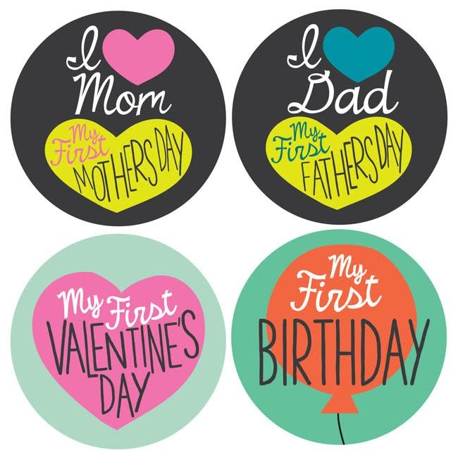 Lucy Darling Milestone Stickers My First Holiday