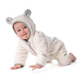 Baby Deedee Furry Bear Bunting- Ivory