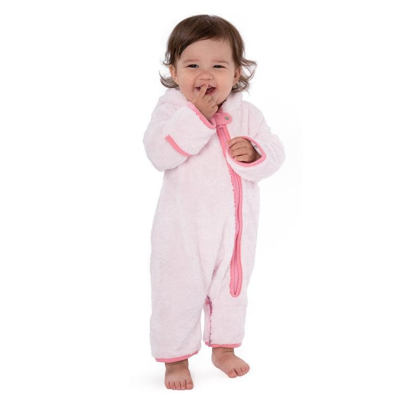 Baby Deedee Furry Bear Bunting- Pink