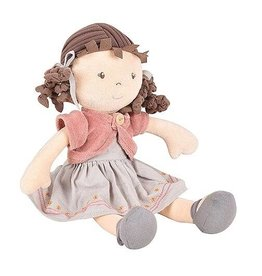 Tikiri Toys Rose - Organic Doll With Brown Hair