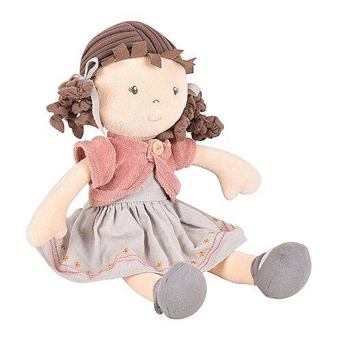Tikiri Toys Rose - Organic Doll With Brown Hair