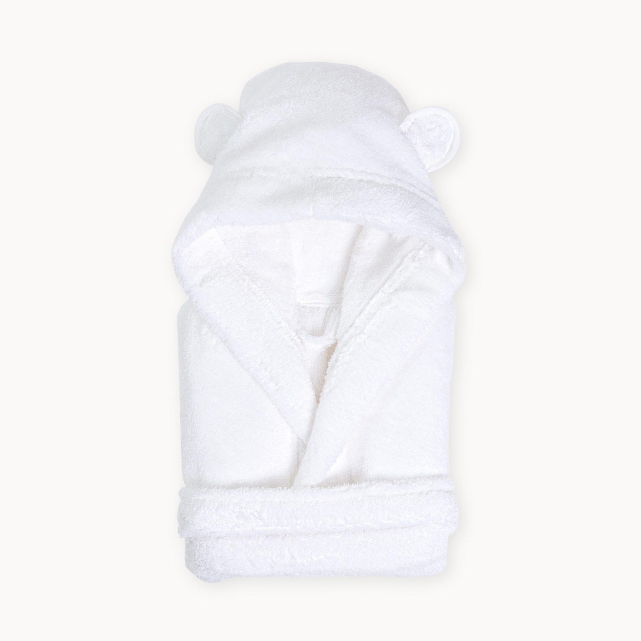 Natemia Organic Cotton Hooded Robe- White