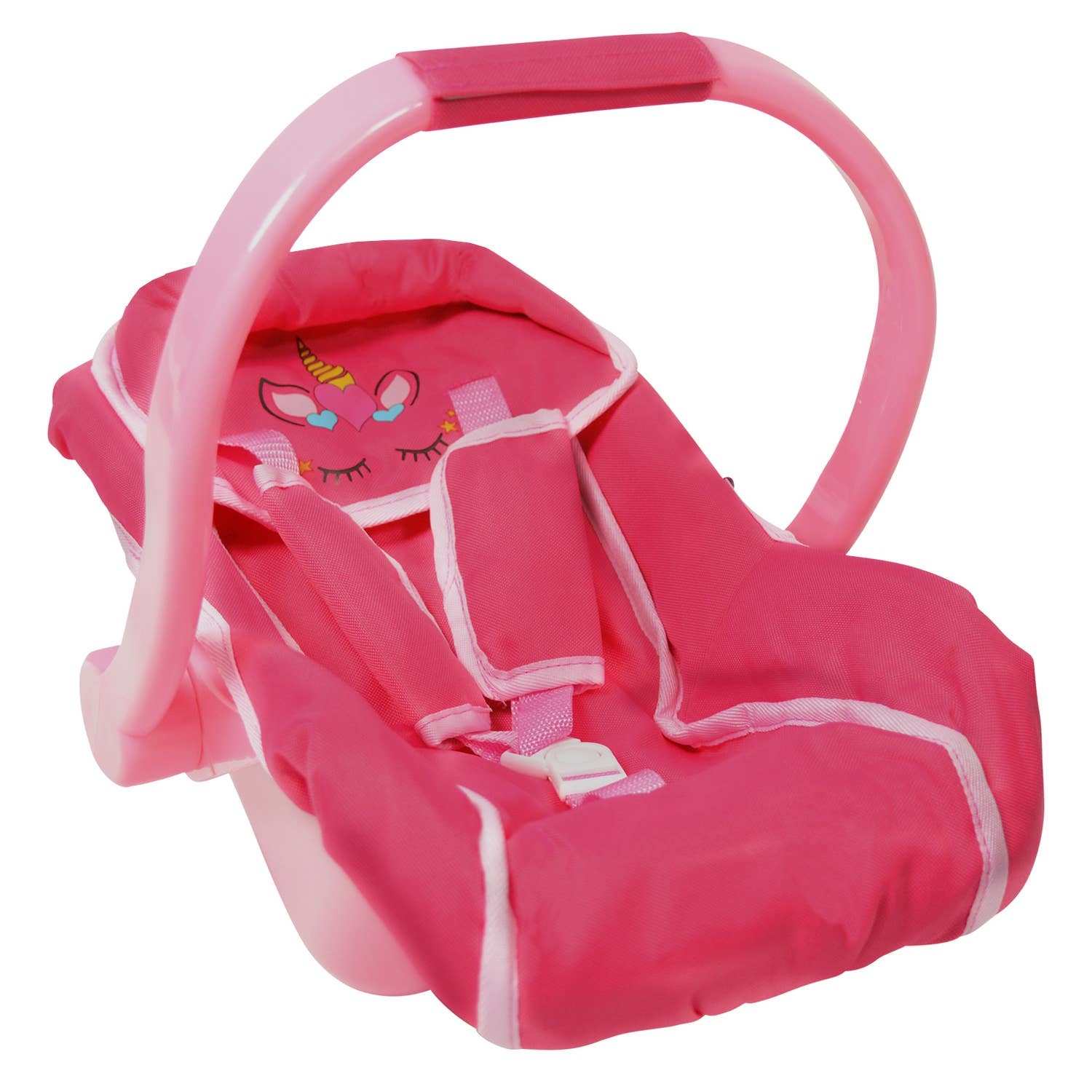 The New York Doll Collection Baby Doll Car Seat Unicorn Design