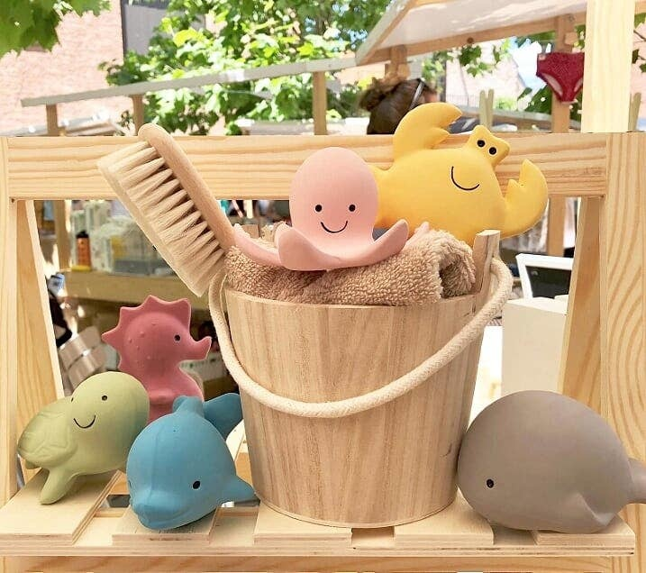 Tikiri Toys Natural Rubber Toy- Octopus