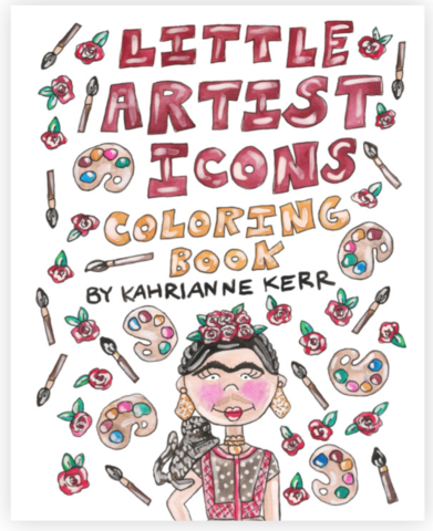 Kahri Little Artist Icons Coloring Book