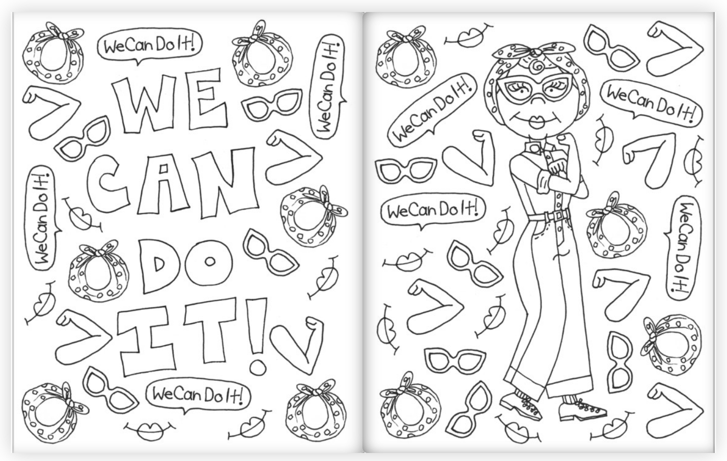 Kahri Little Feminist Icons Coloring Book