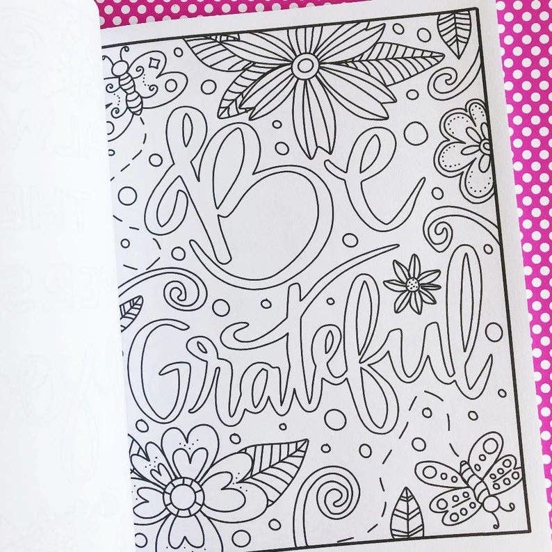 Emily Cromwell Designs Positive Vibes Inspirational Coloring Book