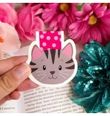 Emily Cromwell Designs Magnetic Bookmark- Gray Cat