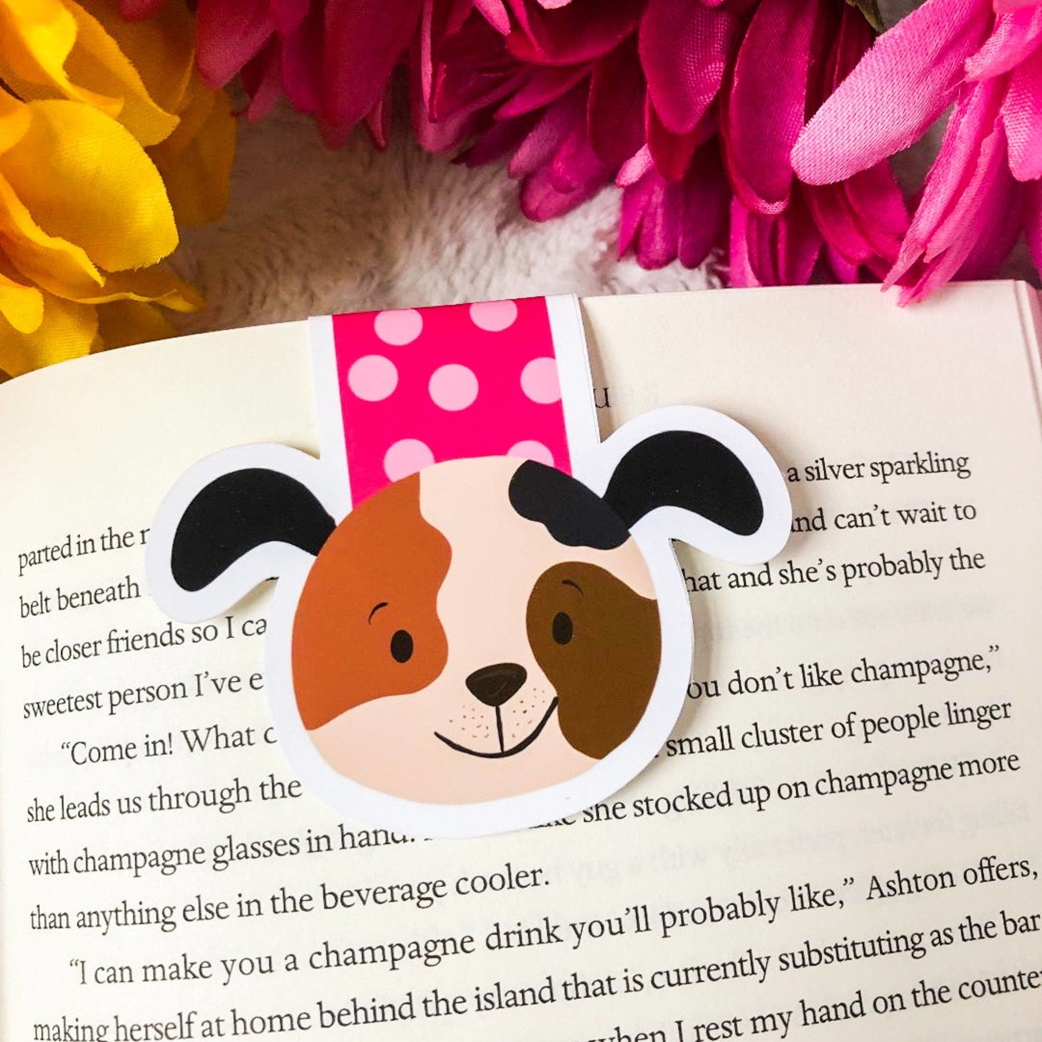 Emily Cromwell Designs Magnetic Bookmark- Pink Dog