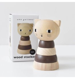 Wee Gallery Wood Stacker- Cat