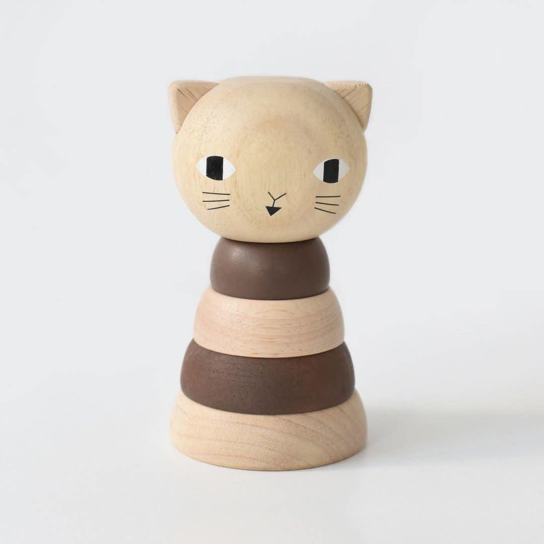 Wee Gallery Wood Stacker- Cat