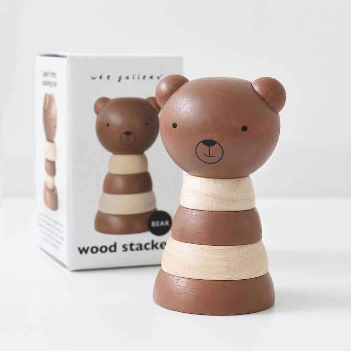 Wee Gallery Wood Stacker- Bear