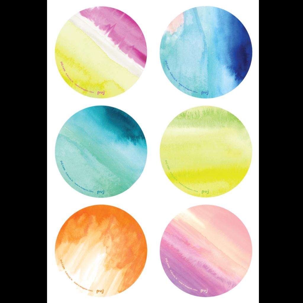 Puj Bath Treads - Watercolors