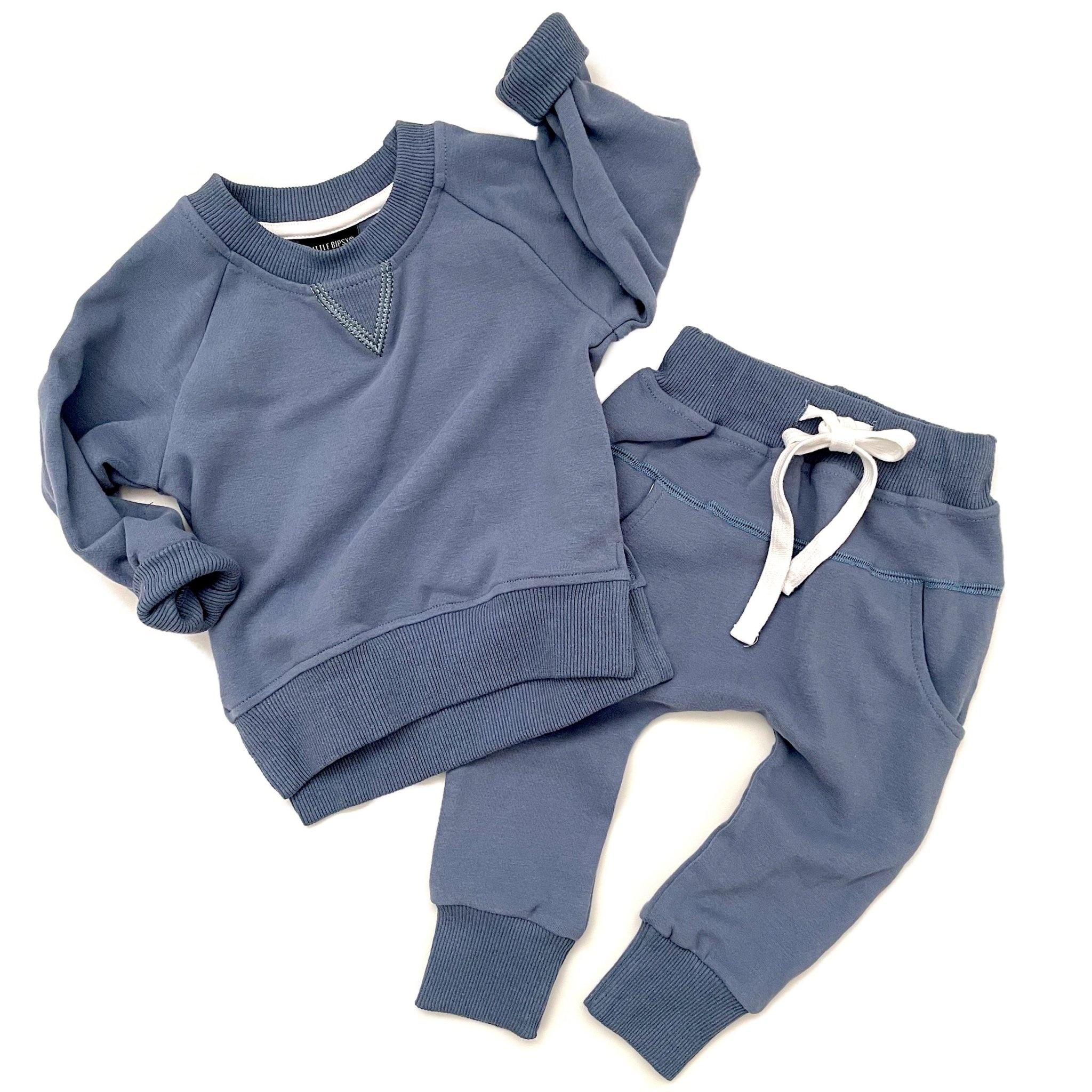 Little Bipsy LB Pullover- Ocean Blue