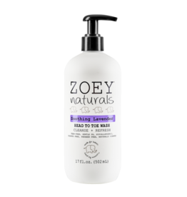 Zoey Naturals Head To Toe Wash- Soothing Lavender