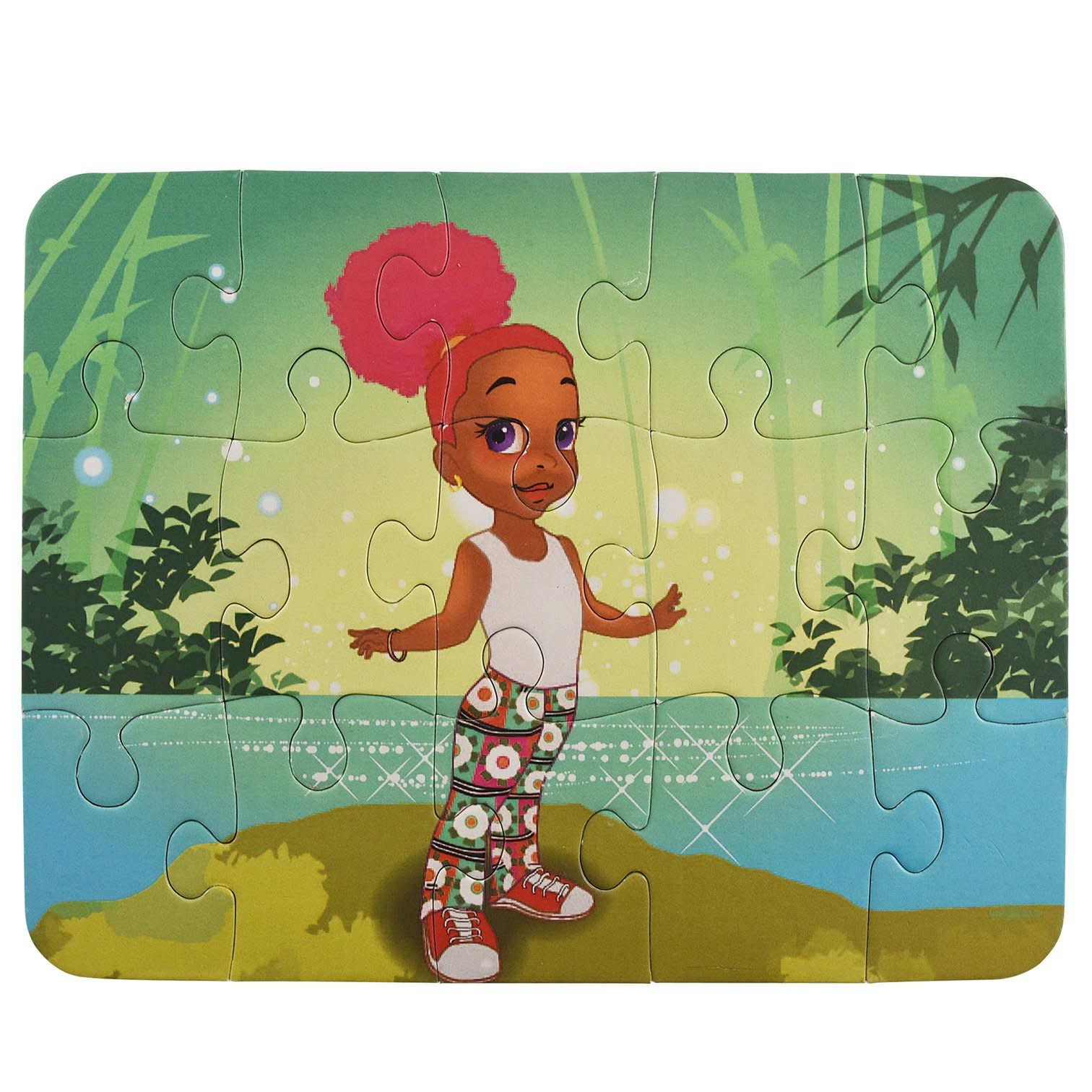 Puzzle and Bloom Summer: The Island Girl Puzzle (15 Piece Puzzle)