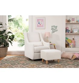 Babyletto Toco Swivel Glider and Ottoman Eco-Weave