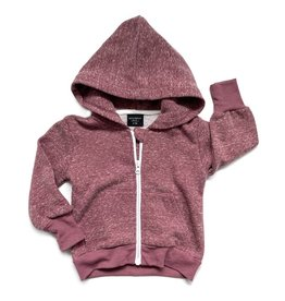 Little Bipsy LB Washed Zip Hoodie- Plum