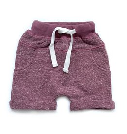 Little Bipsy LB Washed Harem Shorts- Plum