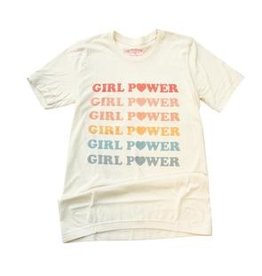 The Funnel Cake Tree Pastel Rainbow Girl Power Tee